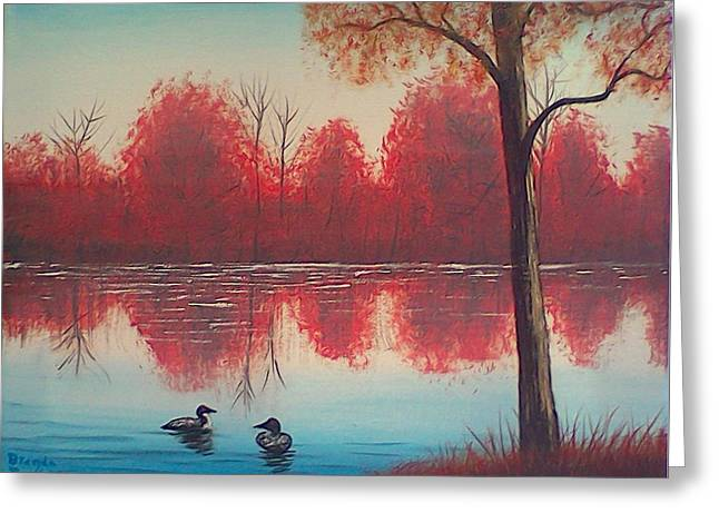 Autumn Loons Greeting Card