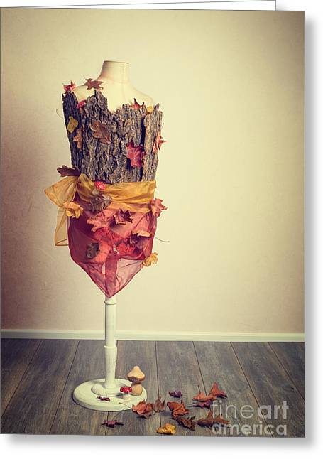 Autumn Mannequin Greeting Card by Amanda Elwell