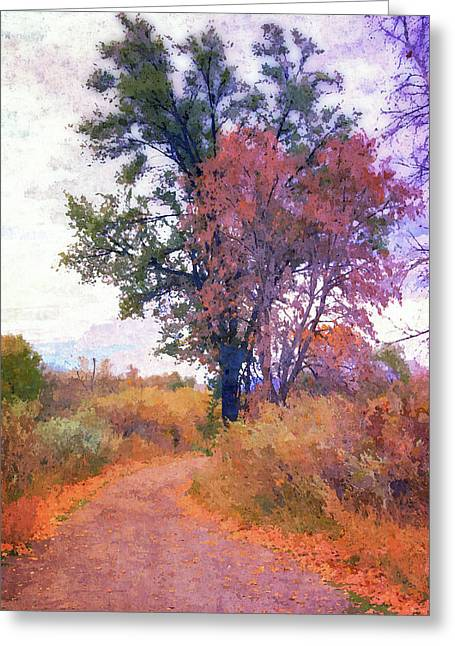 Autumn Melancholy Greeting Card