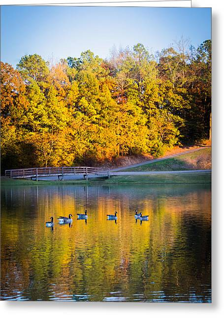 Autumn Memories On The Pond Greeting Card by Parker Cunningham