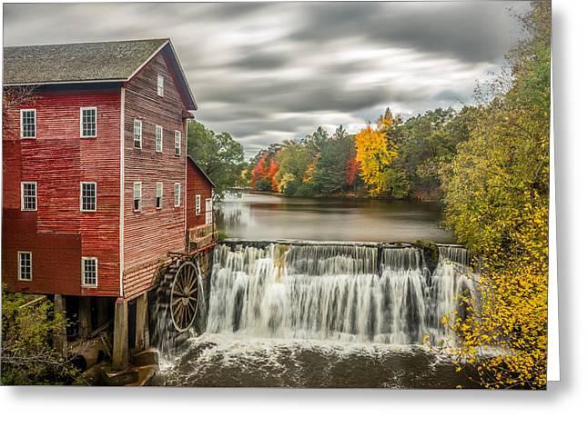 Autumn Mill Greeting Card by Mark Goodman