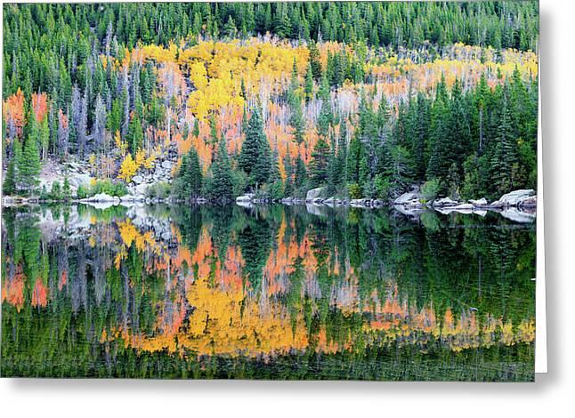 Autumn Mirror At Bear Lake Greeting Card