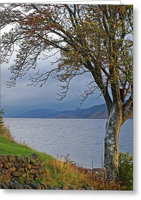 Autumn Mist On Loch Ness Greeting Card