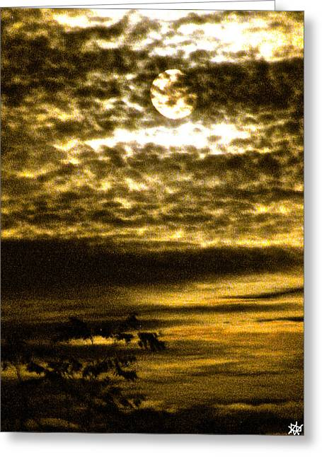 Autumn Moon Greeting Card by Debra     Vatalaro