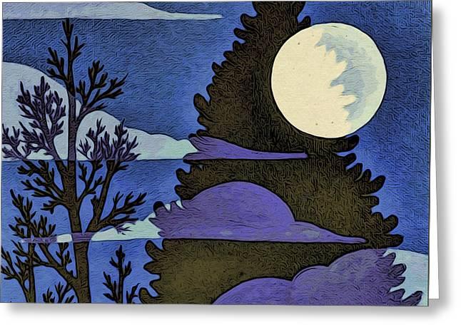 Autumn Moon Greeting Card