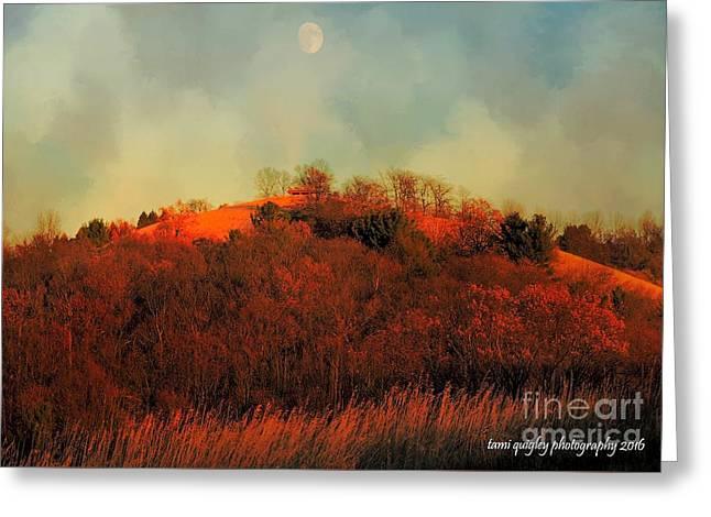Autumn Moonrise Greeting Card