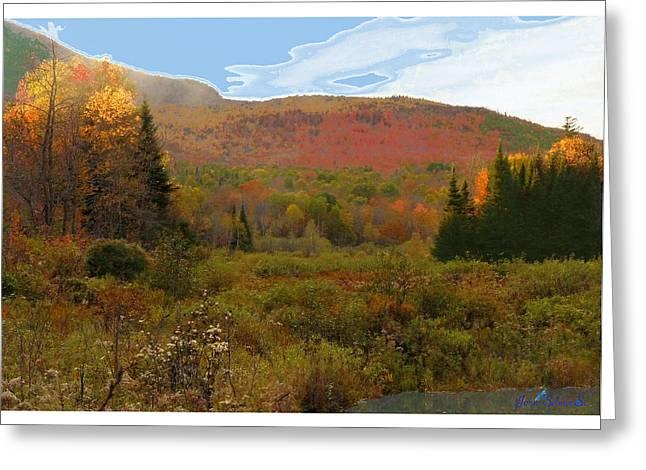 Autumn  Moose Bog Greeting Card