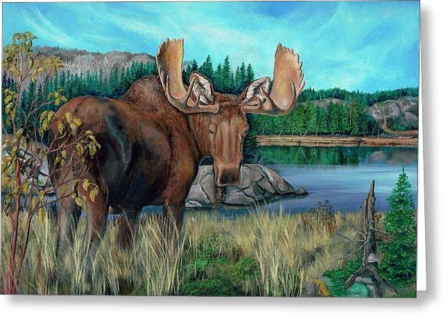 Autumn Moose Greeting Card