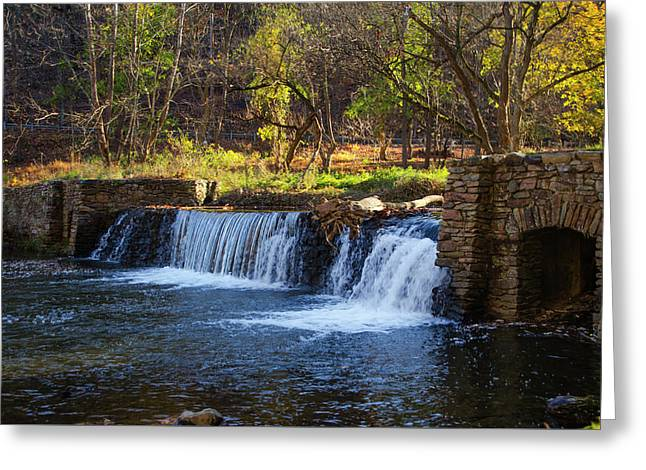 Autumn Moring In Valley Forge - Waterfall Greeting Card