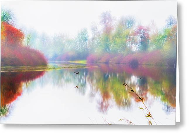 Autumn Morning Dream Greeting Card