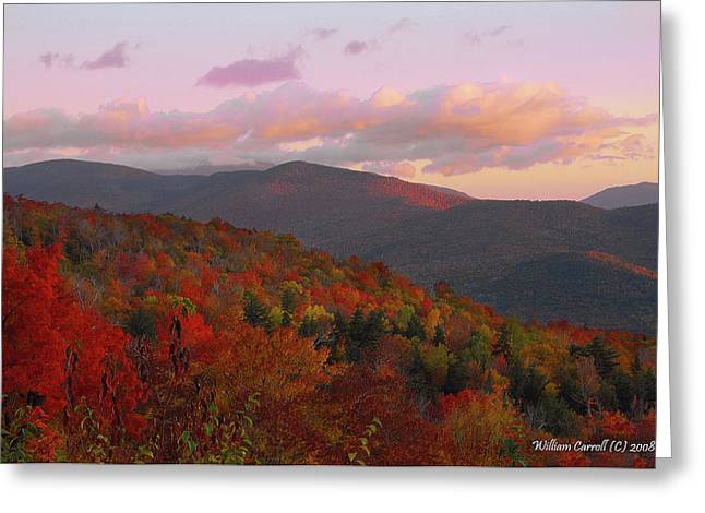 Autumn Morning In New Hampshire Greeting Card by William Carroll