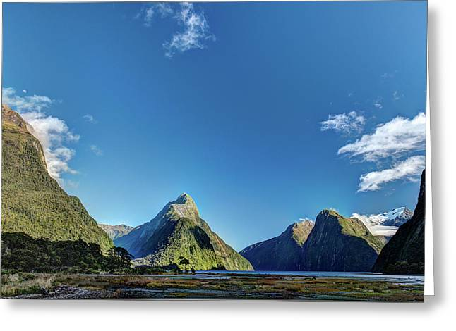 Greeting Card featuring the photograph Autumn Morning Milford Sound by Gary Eason