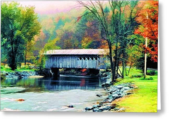 Autumn Morning Mist 2 Greeting Card by Dan Dooley