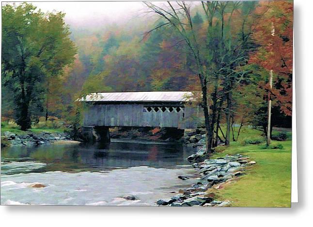 Autumn Morning Mist Greeting Card by Dan Dooley