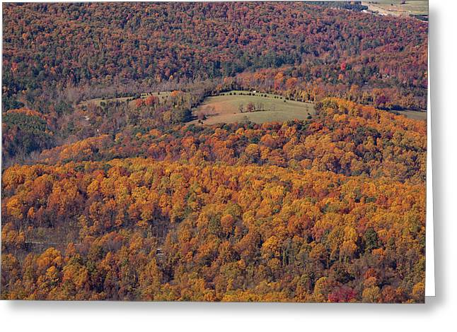Autumn Mountain Side Greeting Card