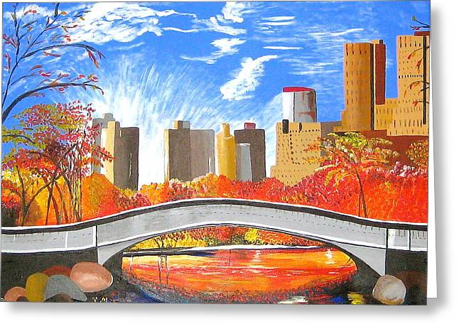 Autumn Oasis Greeting Card by Donna Blossom