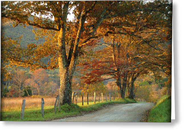 Autumn On Sparks Lane Greeting Card