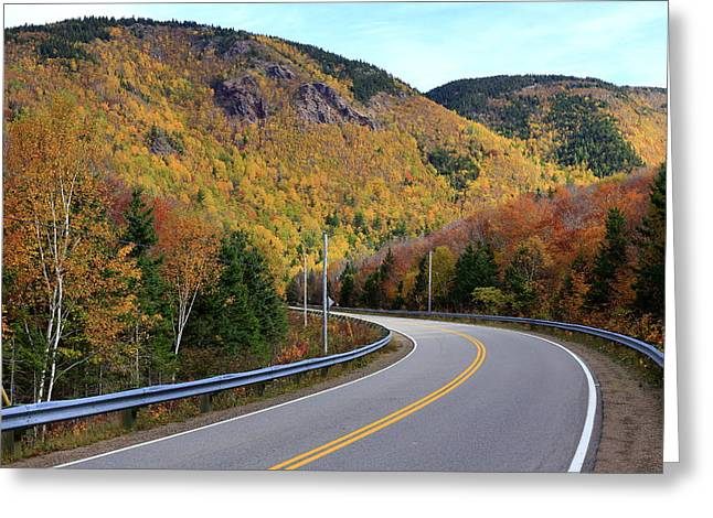 Autumn On The Cabot Trail, Cape Breton, Canada Greeting Card