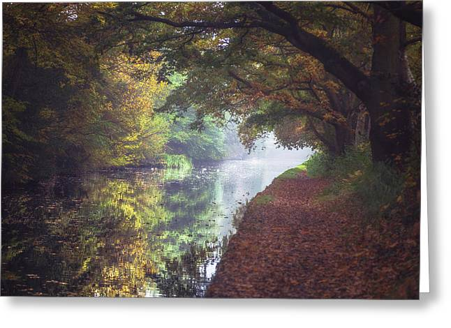 Autumn On The Canal No 1 Greeting Card