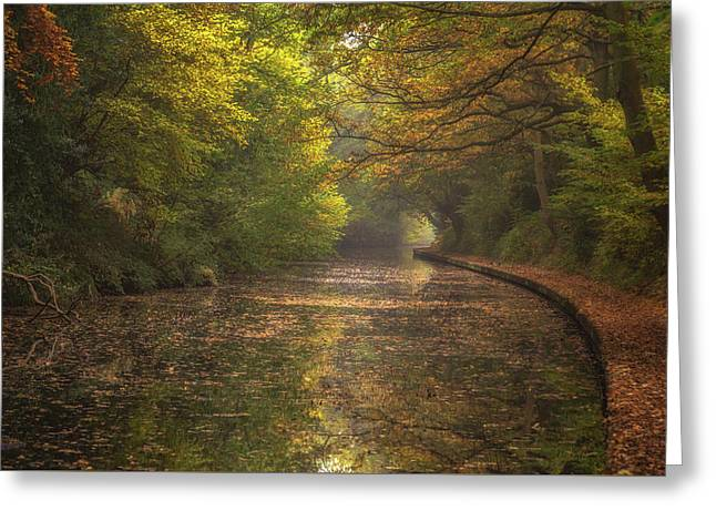 Autumn On The Canal No 2 Greeting Card