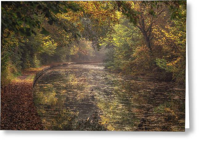 Autumn On The Canal No 3 Greeting Card