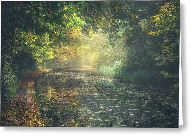 Autumn On The Canal No 4 Greeting Card