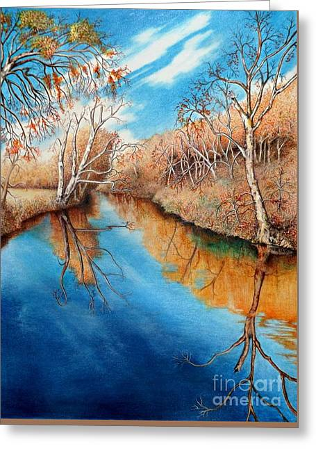 Autumn On The Elkhorn Greeting Card