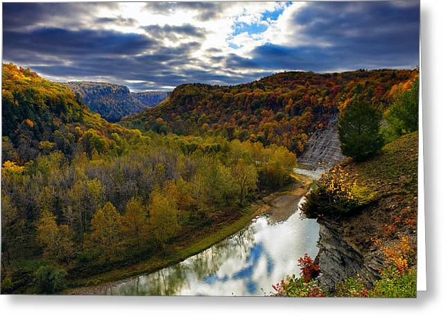 Autumn On The Genesee Greeting Card