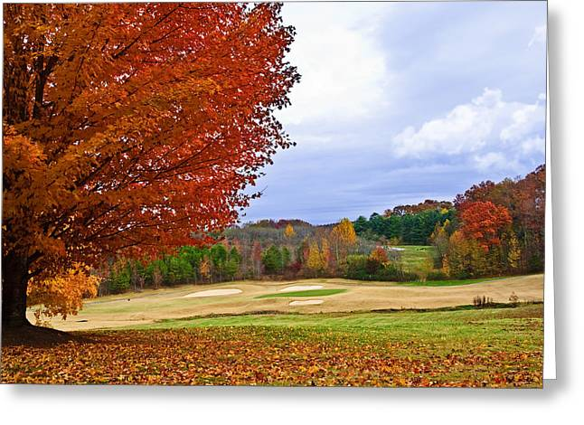 Autumn On The Golf Course Greeting Card by Susan Leggett