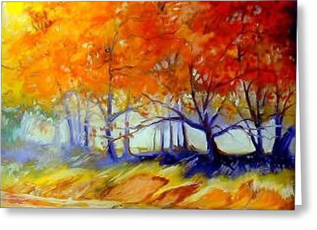 Autumn On The Lake Greeting Card by Marcia Baldwin