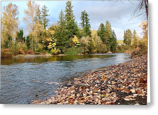 Autumn On The Molalla Greeting Card