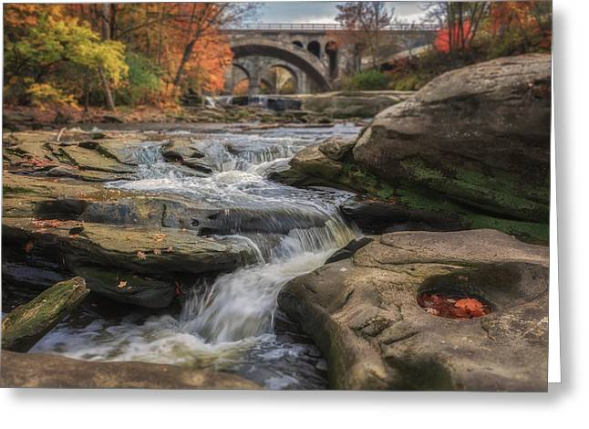 Autumn On The Rocky River Greeting Card