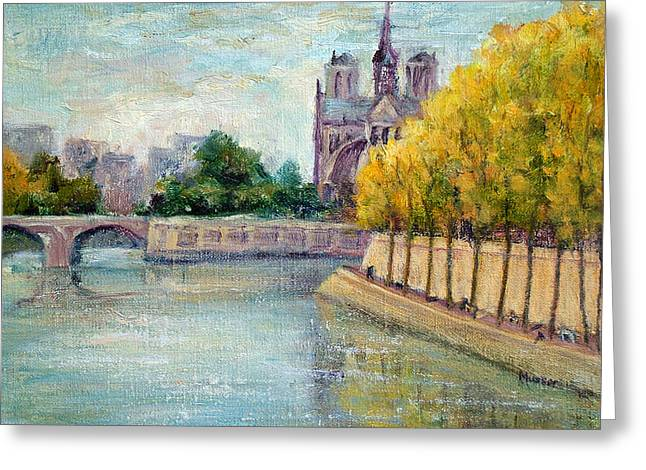 Autumn On The Seine Greeting Card by Jill Musser