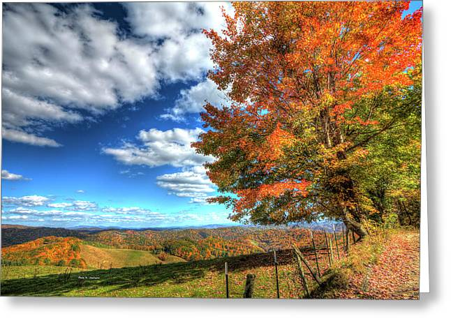 Autumn On The Windfall Greeting Card
