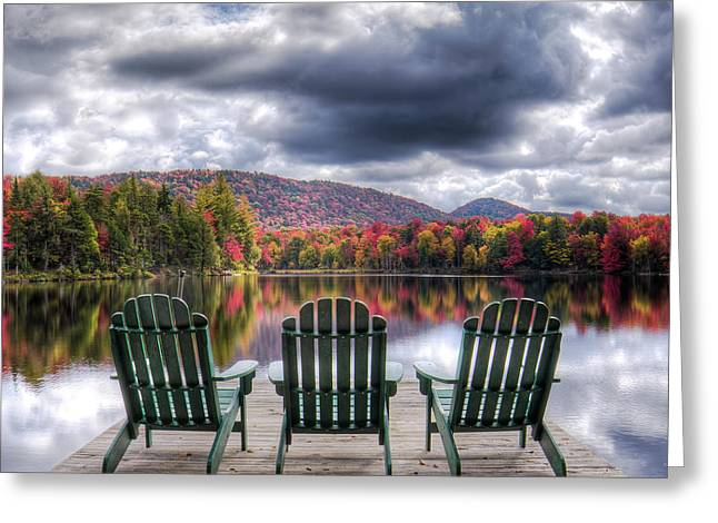 Greeting Card featuring the photograph Autumn On West Lake by David Patterson