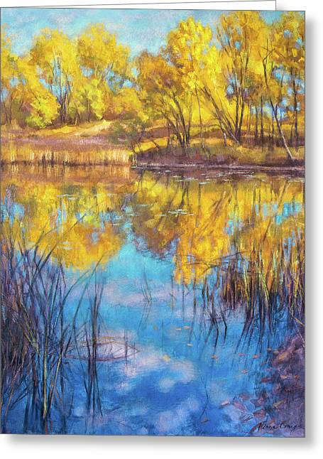 Autumn On Wetlands Greeting Card