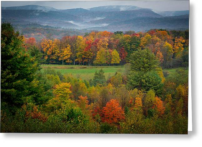 Greeting Card featuring the photograph Autumn On Winslow Hill by Cindy Lark Hartman