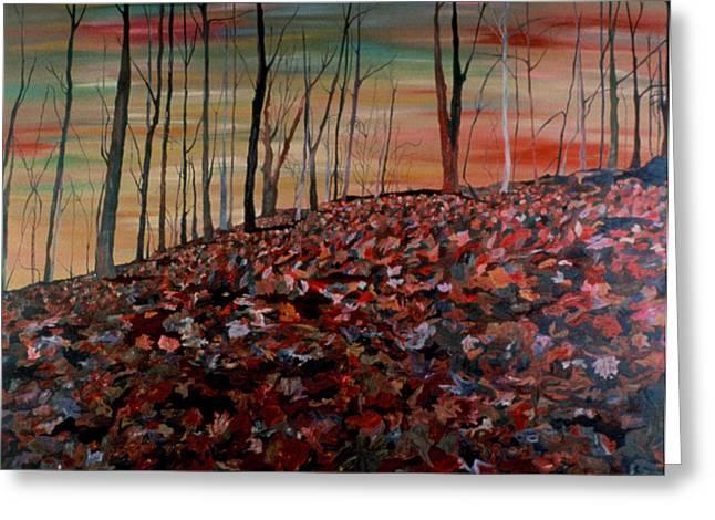 Autumn Greeting Card by Oudi Arroni