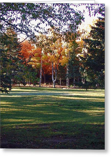 Autumn Park Greeting Card