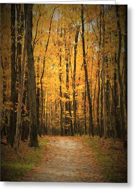 Autumn Peace Greeting Card by Dan Sproul