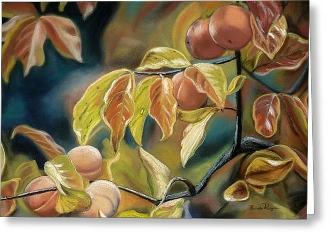 Autumn Peaches Greeting Card by Brenda Williams