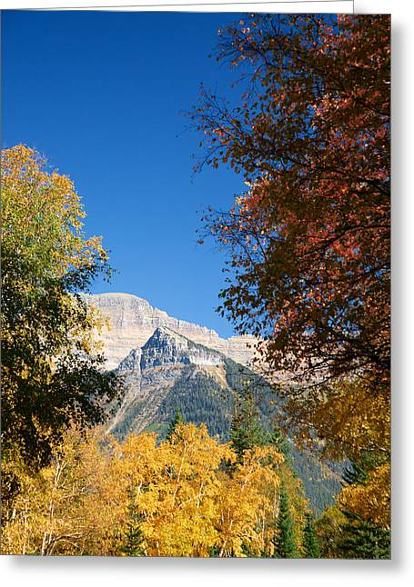 Autumn Peaks Greeting Card by Lawrence Boothby