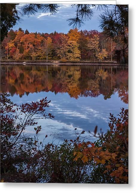 Autumn Peeking Through Lake Horicon Nj Greeting Card