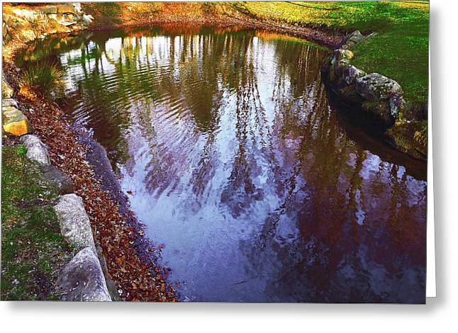 Autumn Reflection Pond Greeting Card