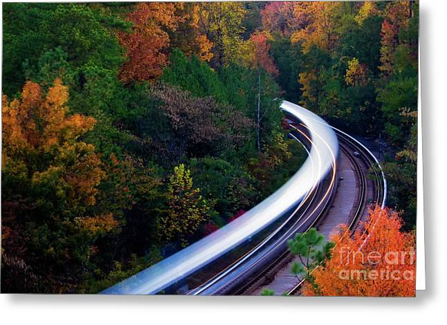 Autumn Rails Greeting Card