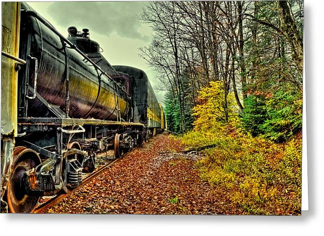 Autumn Railway Greeting Card
