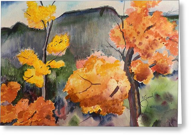 Autumn Rainy Day Greeting Card