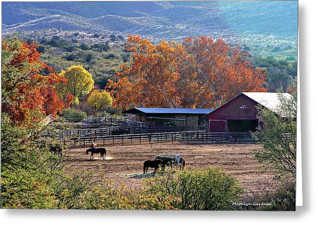 Autumn Ranch Greeting Card