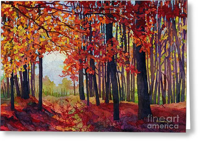 Greeting Card featuring the painting Autumn Rapture by Hailey E Herrera