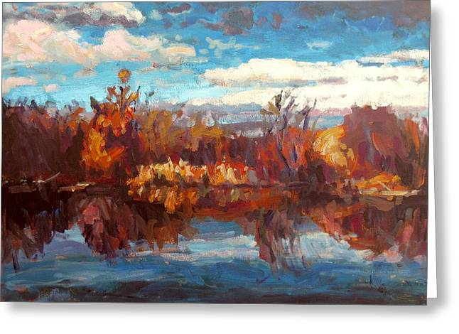 Autumn Reflection Greeting Card by Brian Simons